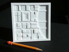 River City - abstract map in White Natural Versatile Plastic