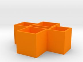 Usb Strong Box0.0 in Orange Processed Versatile Plastic