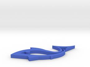 Fish shape coasters in Blue Processed Versatile Plastic