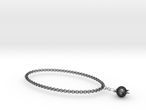 Solar Necklace in Polished Grey Steel