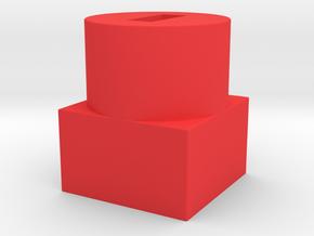 Retro to save money in Red Processed Versatile Plastic