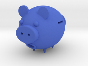 Pig–type savings    deposit in Blue Strong & Flexible Polished