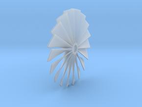 Fan Piece for Turbo Fan Jet Engines in Smooth Fine Detail Plastic