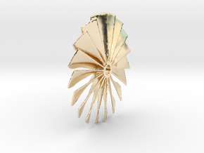 Fan Piece for Turbo Fan Jet Engines in 14k Gold Plated Brass