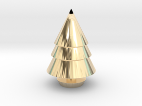 Christmas Tree Decorations in 14K Yellow Gold: Medium