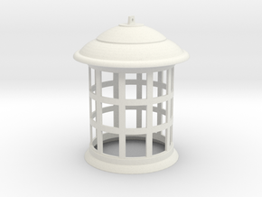 1/1 Scale Tennant TARDIS Lamp w/ Bottom Hole in White Natural Versatile Plastic