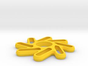 Perpetuum Fidget Spinner in Yellow Processed Versatile Plastic