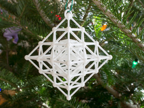 Diamond Spinning Ornament Mini in White Natural Versatile Plastic