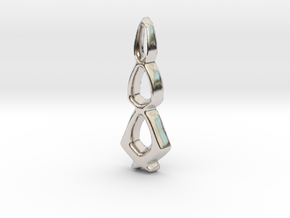 Dewdrops Pendant - 32mm in Rhodium Plated Brass