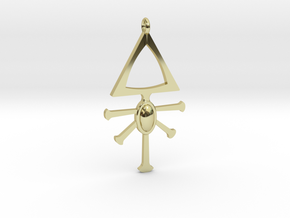 Eldar Rune Pendant 1 in 18k Gold Plated Brass