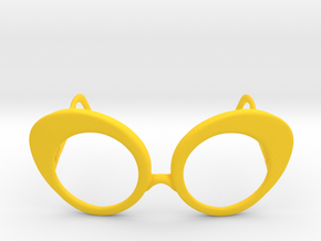 Dushka Glasses in Yellow Processed Versatile Plastic: Small