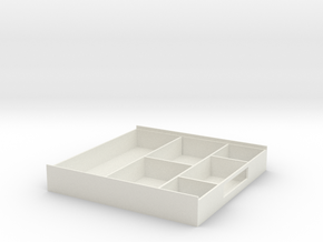Storage Box in White Natural Versatile Plastic: Medium