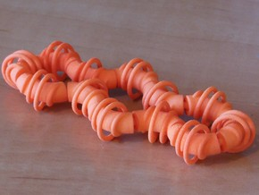 Twisting Links Fidget - Helix in White Natural Versatile Plastic