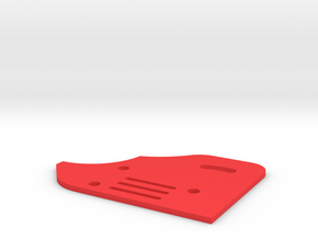 Sideplate Right Version2 for F 1 rear wing in Red Strong & Flexible Polished