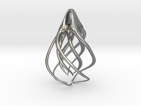 Spiral  in Raw Silver