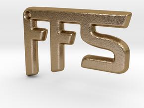 FFS! Pendant in Polished Gold Steel