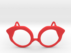 Cat Eye Glasses in Red Processed Versatile Plastic: Small