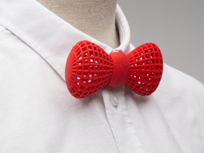 Bowtie  in Red Processed Versatile Plastic