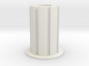 Pencil Holder in White Natural Versatile Plastic: Small
