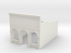 Z-Scale Millie's Cafe Basic Structure in White Natural Versatile Plastic