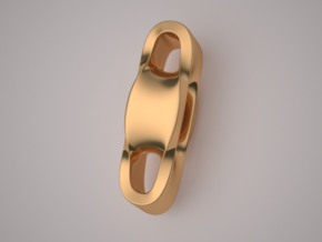 Triple Cube Brass 002 in Polished Brass