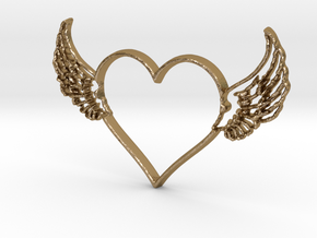 Heart 1 in Polished Gold Steel