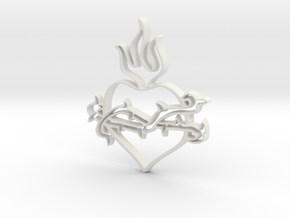 Heart 2 in White Natural Versatile Plastic