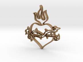 Heart 2 in Matte Gold Steel