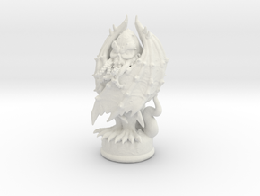 Cthulhu King Piece in White Natural Versatile Plastic