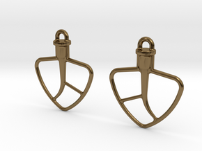 Kitchenaid-Style Mixer Earrings in Polished Bronze