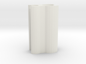 Dropshot Lead Clip in White Natural Versatile Plastic