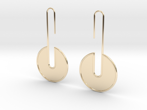 FLAT Nº 4 EARRINGS in 14K Yellow Gold