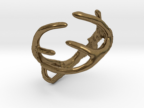 Antler Ring Size 12 - 22mm ID in Natural Bronze