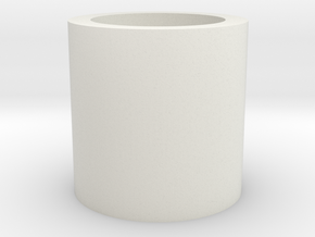 Barrel/Hop Up Spacer 12mm in White Natural Versatile Plastic
