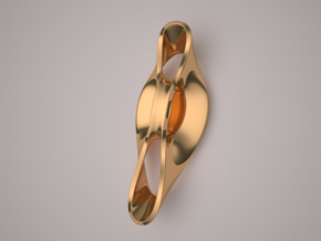 Triple Cube Brass 052 in Polished Brass