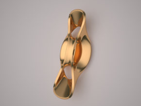 Triple Cube Brass 060 in Polished Brass