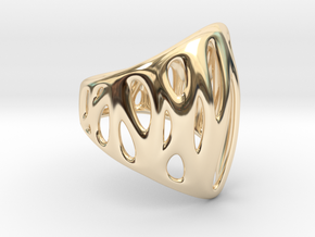 WireFrame 1 64k in 14k Gold Plated Brass: Small