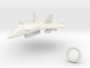 Plane in White Natural Versatile Plastic: Medium