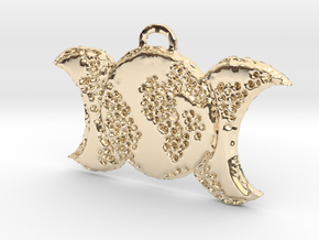Prim Triple Moon by ~M. in 14k Gold Plated Brass
