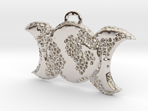 Prim Triple Moon by ~M. in Rhodium Plated Brass