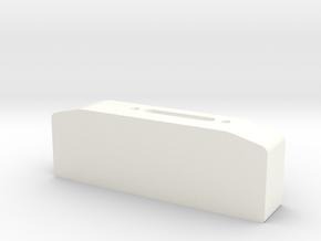 Winch box depth 25 mm for standard hawse fairlead  in White Processed Versatile Plastic
