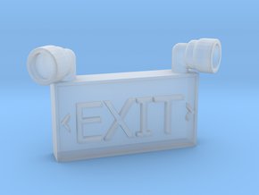 1/10 SCALE EXIT SIGN FOR GARAGE in Smooth Fine Detail Plastic