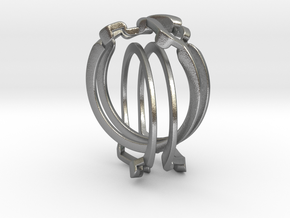 Holistic Ring interlocking metal in Interlocking Raw Silver