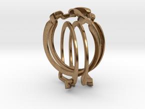 Holistic Ring interlocking metal in Natural Brass (Interlocking Parts)