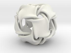 Cubocta-ducov (no holes) in White Natural Versatile Plastic