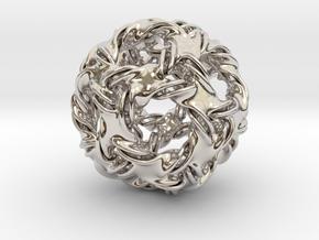 Icosidodeca-ducov (no holes) in Platinum