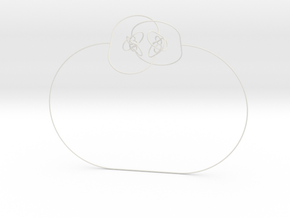 Horned sphere (thin and flexible) in White Strong & Flexible