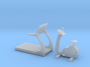 1:48 Fitness Equipment in Smooth Fine Detail Plastic