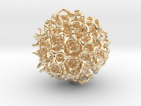 Quasicrystal in 14K Yellow Gold: Medium