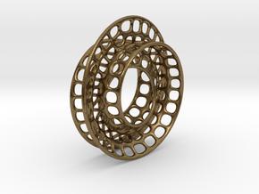 Quarter twist Möbius strip in Natural Bronze